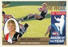 Select 2005 Tradition NICK RIEWOLDT St Kilda Saints Mark of the Year card