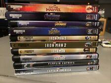 Marvel 4k UHD Blu ray 10 Movie Lot! Iron man Captain America Avengers No Digital