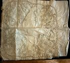 Antique Very Fine Embroidery Ladies Hanky or Napkin Shows Process Early 1900's