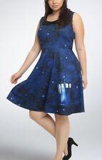 Doctor Who Halloween Costume Dress Women Size Medium Tardis BBC Hot Topic Outfit