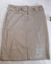 Copper Key Metallic Pencil Skirt Size 7 NWT  Pockets Button Detail