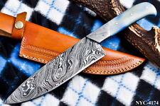 CUSTOM HANDMADE DAMASCUS STEEL CHEF CHOPPING KNIFE NYC-4174