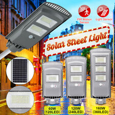 120W/160W 60LED Solar Street Wall Light PIR Motion Sensor Outdoor Garden Lamp