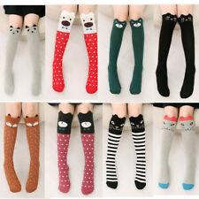 Kids Girls 3D Cartoon Socks Cute Animals Knee High Long Warm Stocking Cute Socks