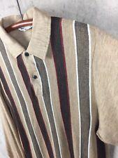 "1950's-60's Vintage Town Topic Striped Panel Shirt ""medium�"