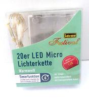 Idena 20er LED Micro Lichterkette INNEN 2,20m Länge Weihnachtslichterkette 31114