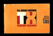 TX SERIES GEMINI GENUINE OWNER MANUAL HOLDEN GMH