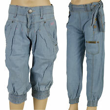 Girls Lee Cooper Designer Denim Jeans Casual Fashion Trousers Pants Cuffed Ankle