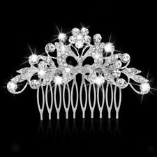 Peigne Cheveux Épingle Strass Fleur Bijoux de Mariage Soirée Bal Femme #1