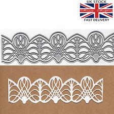 3 piece lace border edge die set metal cutting die cutter UK seller fast post