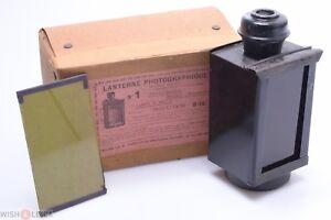 ✅ 3 COLOR ANTIQUE DARK ROOM FOR OIL LAMP, SAFELIGHT COLLODION ENSIGN KODAK BOXED