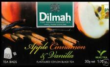 Dilmah Tee-Apple Cinnamon Vanilla Flavoured BLACK Ceylon Tea 20 bustina del tè