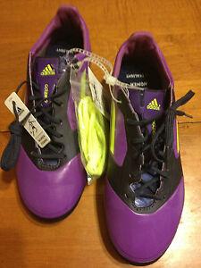NWT Adidas F50 Adizero TRX FG Soccer Cleats Women's Size 6 Ultra Purple