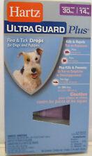 HARTZ ULTRA GUARD PLUS FLEA & TICK DROPS DOGS/PUPPIES 3 Tubes 30 LBS & Over New