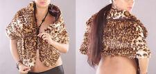 Fell Stola Bolero Brautjacke Cape  Pelz Kunstfell Webpelz elegant Party Leopard