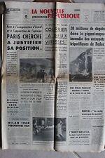 LA NOUVELLE REPUBLIQUE 10 JANVIER 1969 - INCENDIE REDON JOURDEN XV ECOSSE