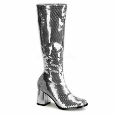 Zip Knee High Boots Textured Shoes for Women