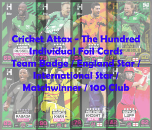 Topps Cricket Attax 2021 The Hundred - Choose Your Individual Star / Foil Cards