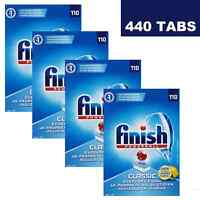 4 X FINISH POWERBALL CLASSIC DISHWASHING DISHWASHER 110 TABLETS LEMON - 440 PACK