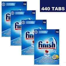 4 X FINISH POWERBALL CLASSIC DISHWASHING DISHWASHER 110 TABLETS LEMON - 440 PACK