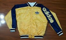 VTG 90's ADIDAS VARSITY BOMBER COLOR BLOCK SPELL OUT JACKET RARE HIP HOP XL-XXL