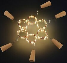 Cork Shaped 20LED Starry Lights Wine Bottle Lamp For Wedding Party Warm White