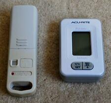 Acurite Wireless Thermometer Indoor Outdoor Temperature & Clock Model# 02044VV1