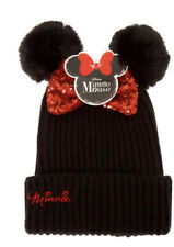 Minnie Mouse Beanie in Black New with Tags