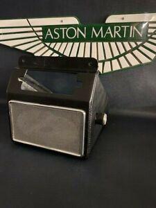 ASTON MARTIN DB4/DB4GT RADIO HOUSING TRIMMED IN BLACK LEATHER CLOTH