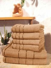 HANDTUCH SET bahama-beige 6-tlg. FROTTEE 470g Duschtuch+Handtuch
