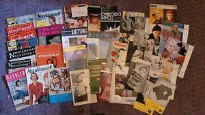 Needlework, Chrochet, Knitting 1950's -70's Job Lot Vintage Magazines patterns