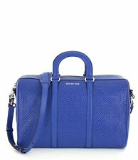 Michael Kors Libby Large Perforated Leather Gym Bag (Electric Blue)