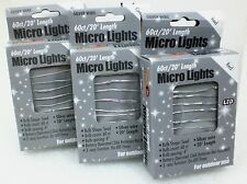 20Ft - 60Ct Micro LED Battery Operated Seed Rice Mini Lights Christmas String