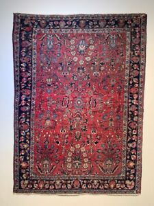 "Antique Saruk Rug - 4' 9"" x 3' 6"""