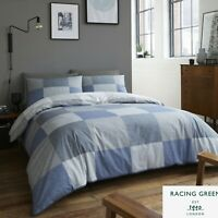 Racing Green TRAVIS Blue 180 TC Easy Care Duvet Cover Set