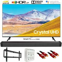 "Samsung UN65TU8000 65"" 4K Ultra HD Smart LED TV (2020) w/ Deco Gear Soundbar Kit"