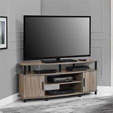 Altra Carson 50 Corner TV Stand Sonoma Oak Offers Both Open And Closed  Storage