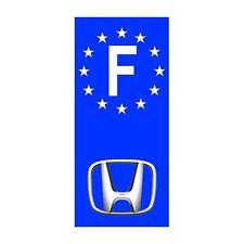 "2X Stickers Plaques Auto Fond Bleu ""Honda"" F"