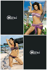 MARKO Shakira GP Luxury Super Soft Padded Bikini Top and Matching Brief Set