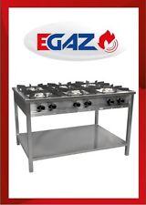 Profi Gaskocher Gasherd EGAZ TG-637.III mit 6 Kochstellen Gastro 36,5 kW 230V