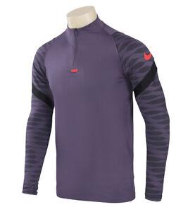 Nike Dri-Fit Strike 21 Drill Top Men's Training Top 1/4 Zip Up Purple CW5857-573
