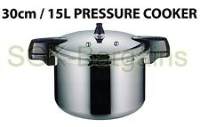 30cm / 15L Aluminium Kitchen Pressure Cooker With Gasket  & Steamer High Quality