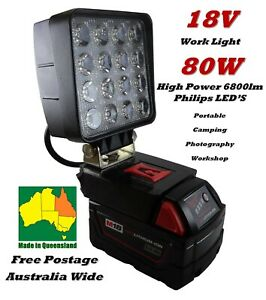 18V Li-ion Milwaukee Work Light Compact Camping Photography - New and Improved!