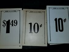 Lot of 50 Atkins 5 cent to 1.00 store Price tags cardd 1940s