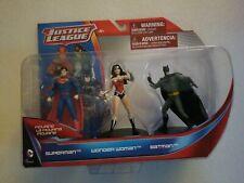 NIP DC Comics Justice League 3 Figurine Set Batman, Superman, Wonder Woman