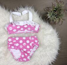 Toddler Girl Circo 2-Piece Swimsuit High Waist Bikini Pink Polka Dot Size 3T