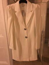 River Island White diamante button long sleeve tux dress  Size 12 (BNWT)