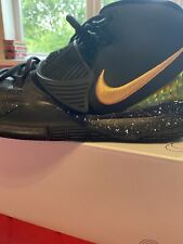 Nike Kyrie 6 size:10,5 Basketball Shoes Custom Gold And Black Worn A Few Times