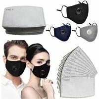 Reusable Air Purifying Face Mask with Carbon Filter Anti-fog PM2.5 Respirator