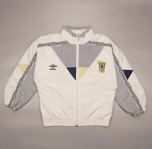 Rare Vintage Scotland 1990 Umbro Football Soccer Jacket Size Boys M Coat